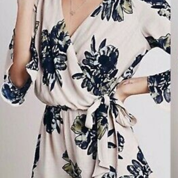 Free People Pants - Free People All the Right Ruffles Romper sz M